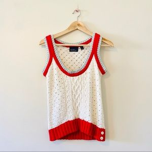Hilfiger Collection ivory sequin sweater vest S